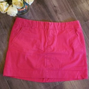 🌹Fire engine red canvas mini skirt